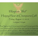 Champions Grill and Pizza Night