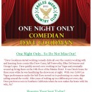 ONE NIGHT ONLY! Comedy Night Coming Soon!